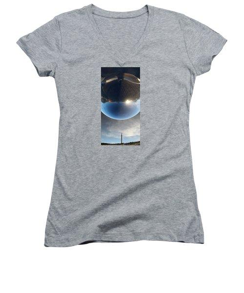 Final Frontier Women's V-Neck T-Shirt (Junior Cut) by Paul Moss