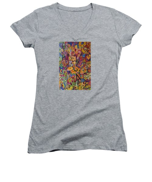 Find My A Women's V-Neck T-Shirt (Junior Cut) by Claudia Cole Meek