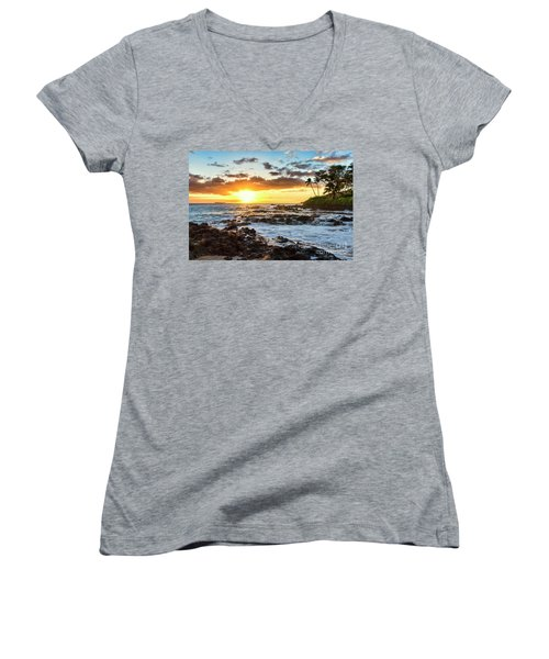 Find Your Beach 2 Women's V-Neck (Athletic Fit)