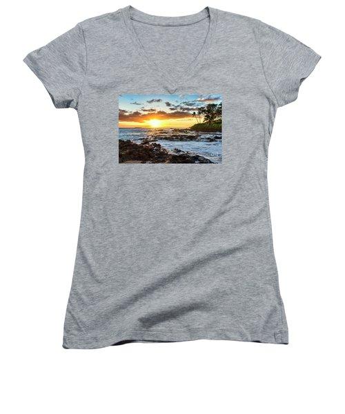Find Your Beach 2 Women's V-Neck T-Shirt