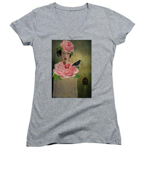 Finding Her Way Women's V-Neck T-Shirt