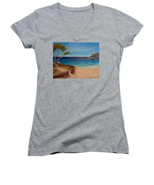 Finding My Special Place In The Summertime  Women's V-Neck (Athletic Fit)