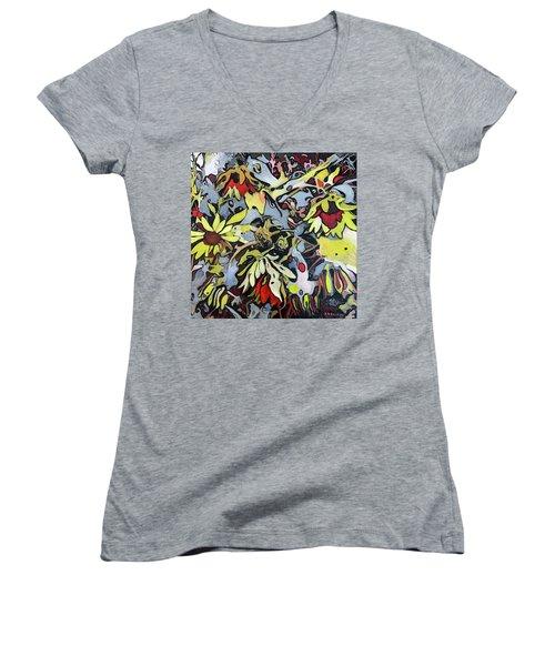 Fiori Women's V-Neck T-Shirt