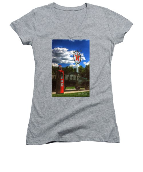 Fire Chief Women's V-Neck T-Shirt (Junior Cut)