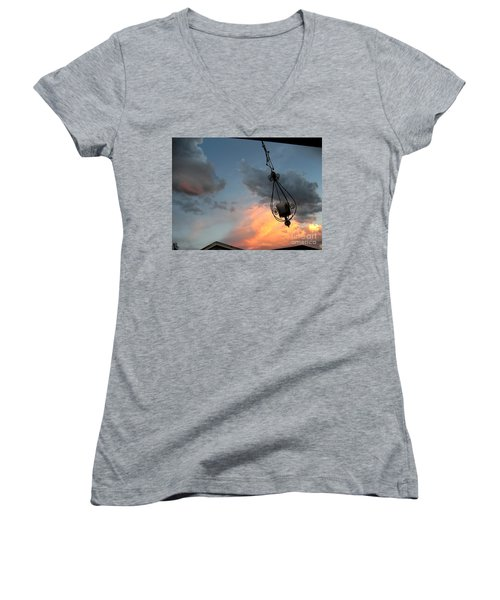 Fire In The Clouds Women's V-Neck