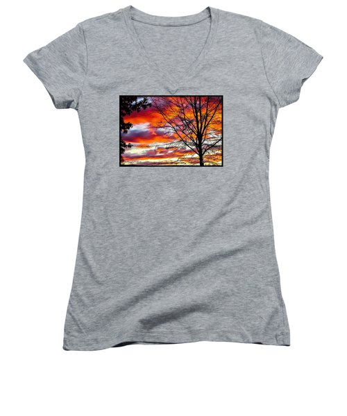 Fire Inthe Sky Women's V-Neck