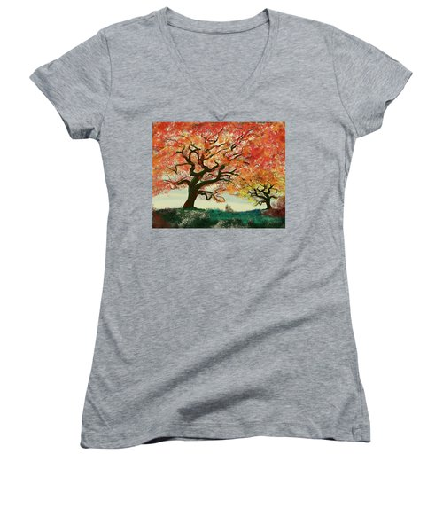Fire Tree Women's V-Neck T-Shirt