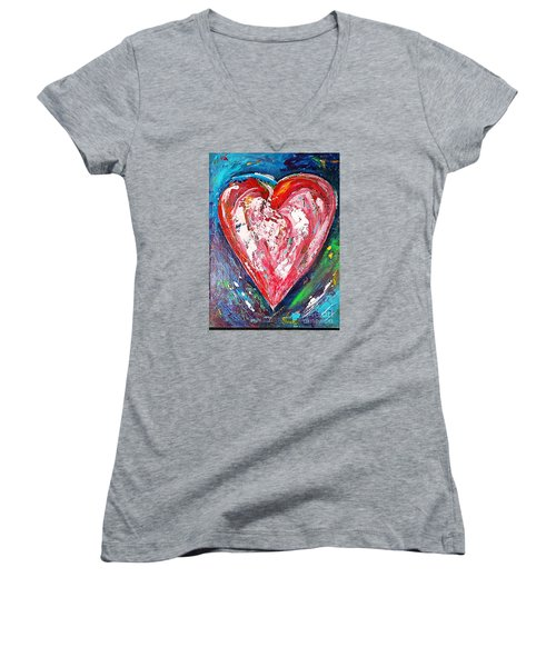 Fireworks Women's V-Neck T-Shirt (Junior Cut) by Diana Bursztein