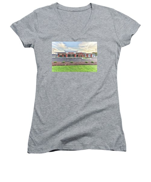 First Bank 4 Women's V-Neck (Athletic Fit)