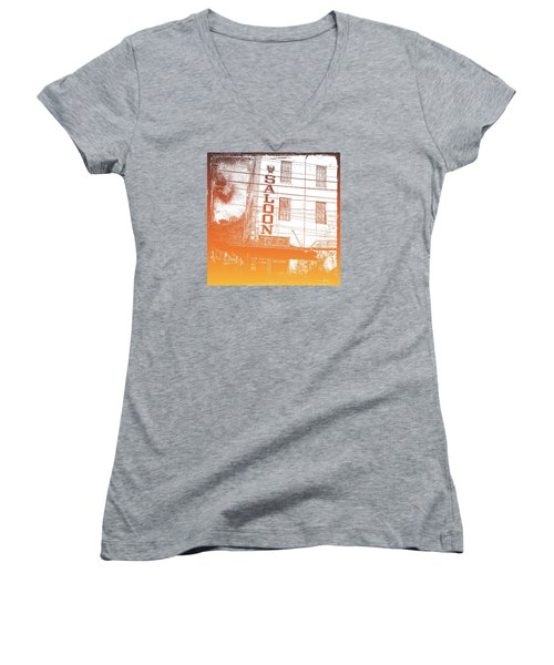 First Bar In Texas For A Woman Women's V-Neck T-Shirt