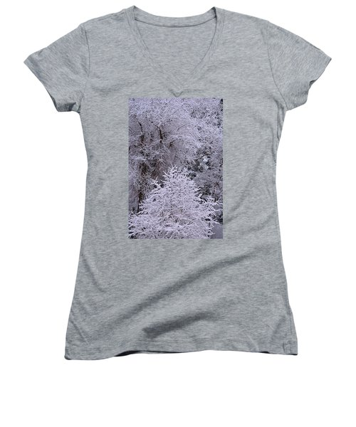 First Snow I Women's V-Neck (Athletic Fit)