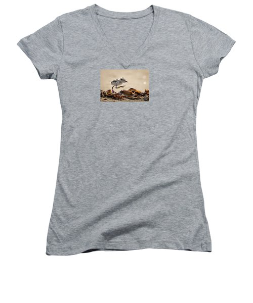 First Steps Women's V-Neck T-Shirt (Junior Cut) by Alice Cahill