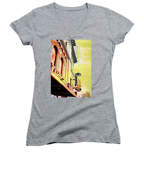 Fish Cafe Women's V-Neck T-Shirt