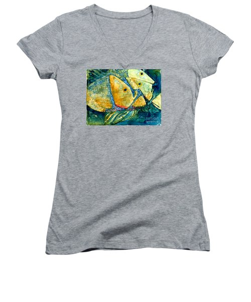 Fish Friends Women's V-Neck (Athletic Fit)
