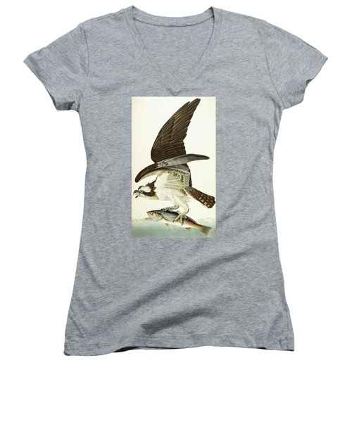 Fish Hawk Women's V-Neck (Athletic Fit)