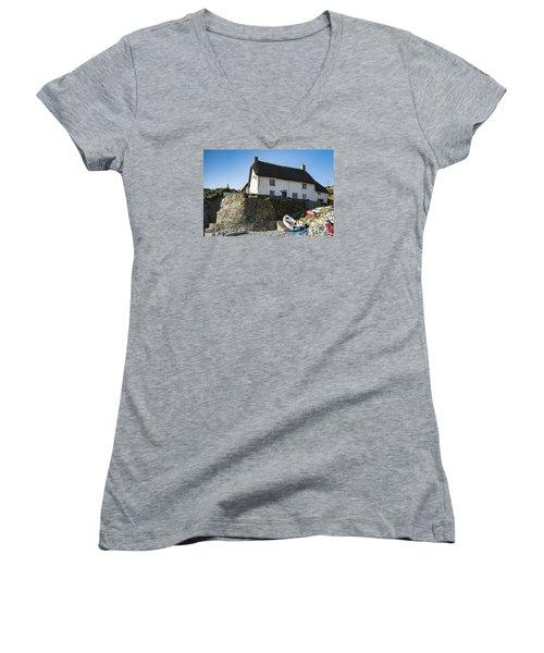 Fishermans Cottage Women's V-Neck T-Shirt (Junior Cut) by Brian Roscorla