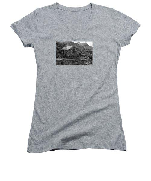 Fishermans Net Shed Women's V-Neck T-Shirt (Junior Cut) by Brian Roscorla