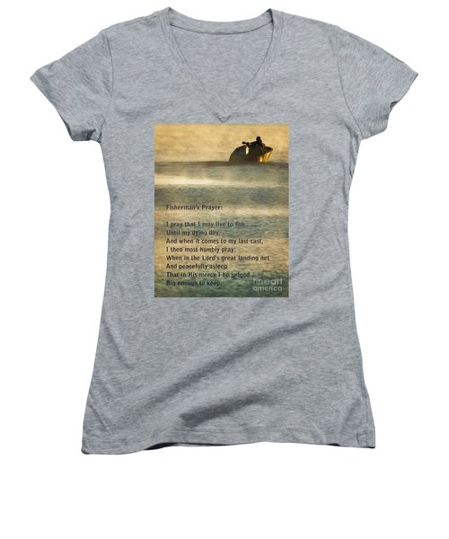 Fisherman's Prayer Women's V-Neck (Athletic Fit)