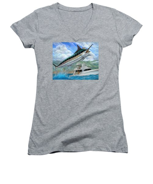 Fishing In The Vintage Women's V-Neck
