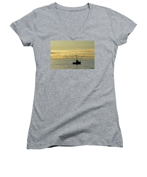 Fishing Off Santa Cruz Women's V-Neck