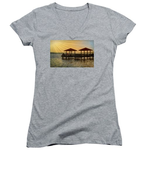 Fishing Pier Women's V-Neck