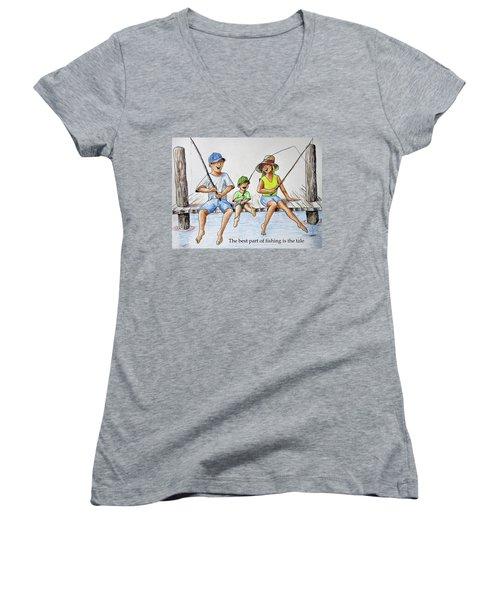 Fishing Tale Women's V-Neck T-Shirt