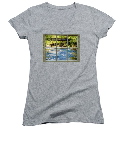 Fishing Window Women's V-Neck