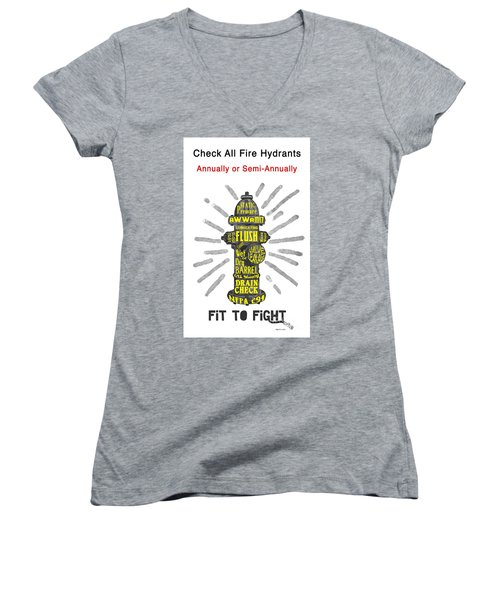 Fit To Fight Women's V-Neck T-Shirt