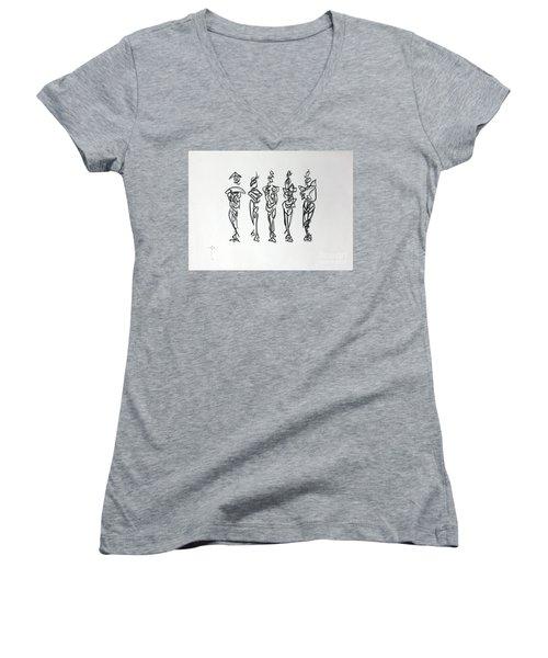 Five Muses Women's V-Neck