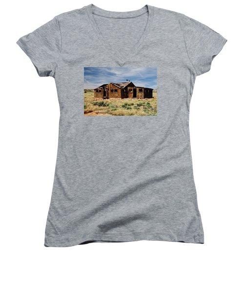 Fixer-upper Women's V-Neck T-Shirt (Junior Cut) by Kathy McClure