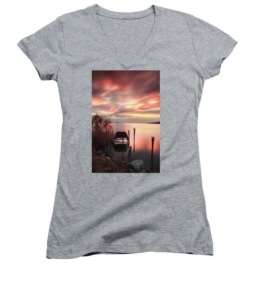 Flame In The Darkness Women's V-Neck (Athletic Fit)