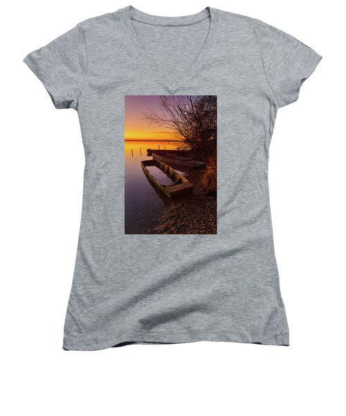 Flame Of Dawn Women's V-Neck