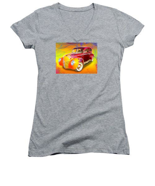Flamin' '40 Women's V-Neck
