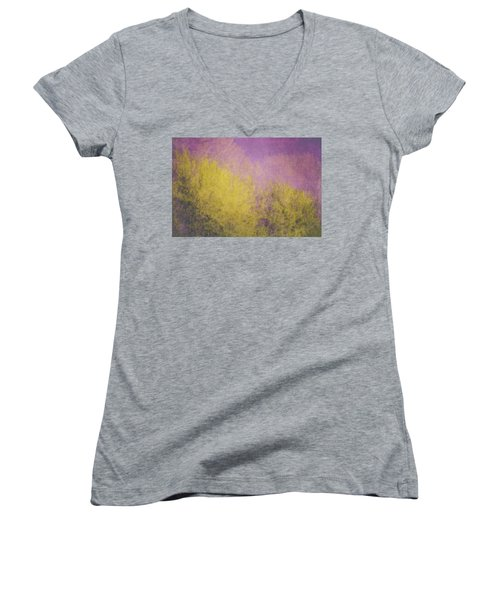 Women's V-Neck T-Shirt (Junior Cut) featuring the photograph Flaming Foliage 3 by Ari Salmela