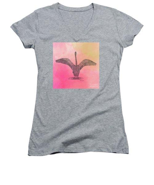 Flamingo2 Women's V-Neck