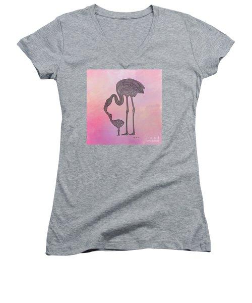 Flamingo6 Women's V-Neck