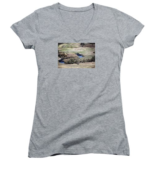 Flathead River 3 Women's V-Neck (Athletic Fit)