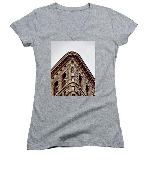 Flatiron Building Detail Women's V-Neck T-Shirt