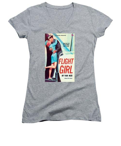 Flight Girl Women's V-Neck