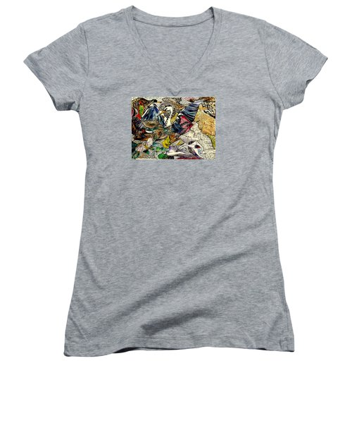 Flight Women's V-Neck T-Shirt (Junior Cut) by Lisa Aerts