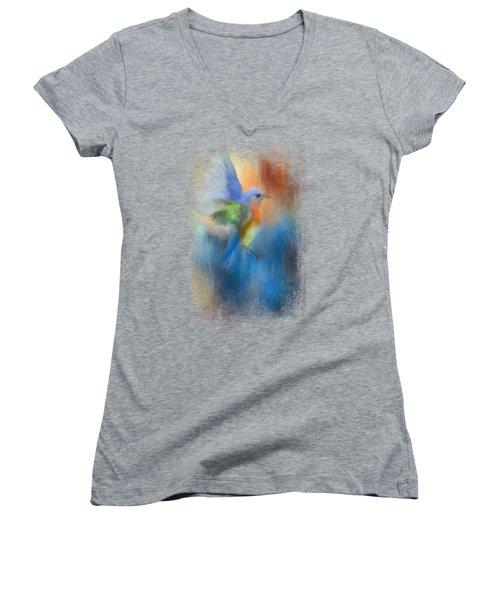 Flight Of Fancy Women's V-Neck T-Shirt (Junior Cut) by Jai Johnson