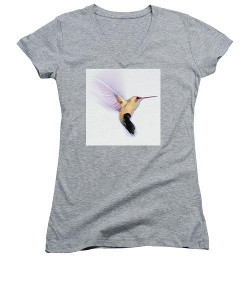 Flight Of The Hummingbird Women's V-Neck