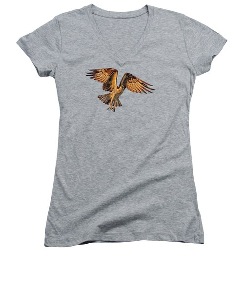 Flight Of The Osprey Women's V-Neck (Athletic Fit)