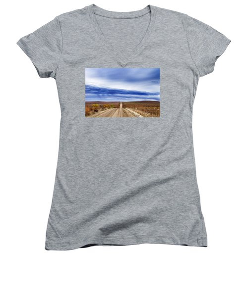 Flint Hills Rollers Women's V-Neck T-Shirt