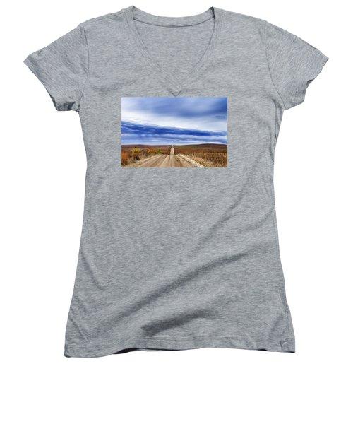 Flint Hills Rollers Women's V-Neck T-Shirt