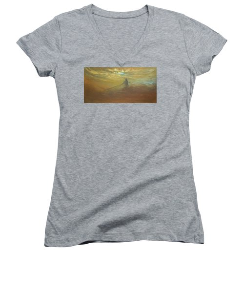 Float On Women's V-Neck T-Shirt (Junior Cut) by Jane See