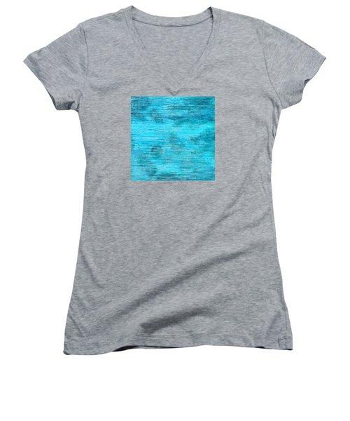 Floating Away Women's V-Neck T-Shirt (Junior Cut)