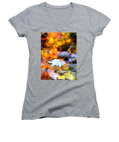 Floating Women's V-Neck T-Shirt (Junior Cut) by Elfriede Fulda