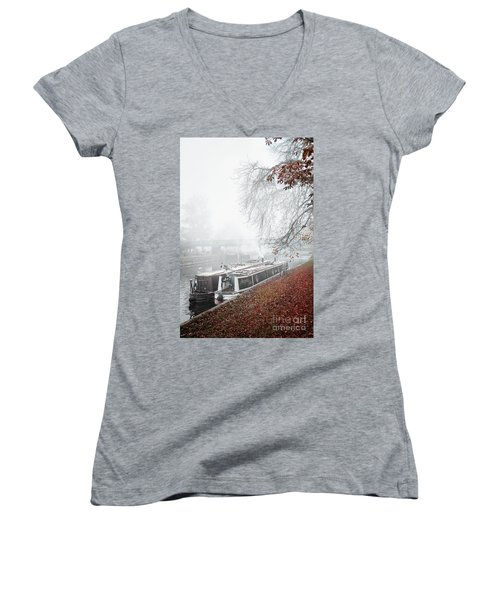 Floating Homes Of  River Cam Women's V-Neck T-Shirt