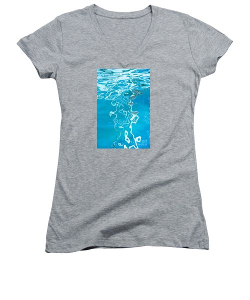Floating On Blue 38 Women's V-Neck T-Shirt (Junior Cut) by Wendy Wilton